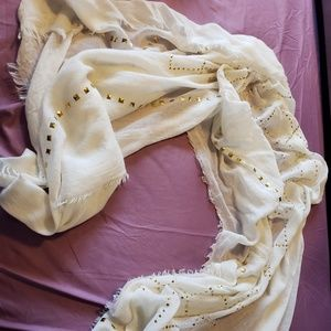 White Studded Scarf